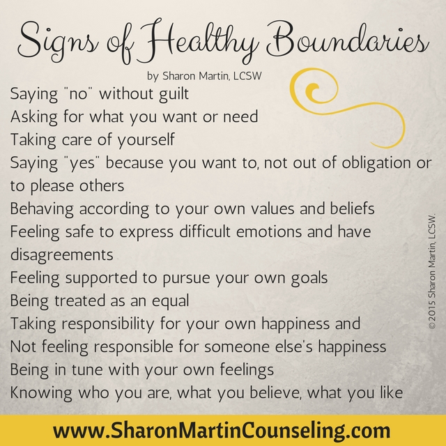 Signs of Healthy Boundaries
