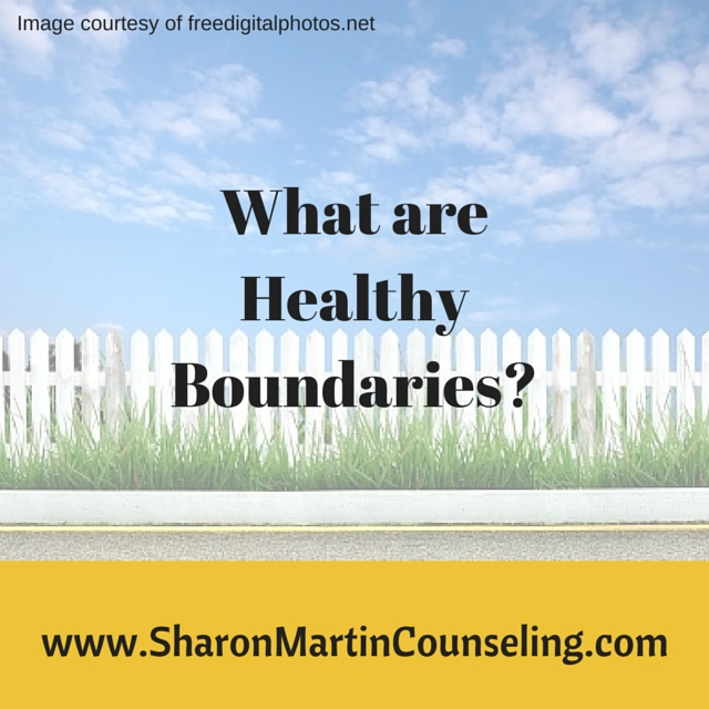 What are Healthy Boundaries? by Sharon Martin, LCSW