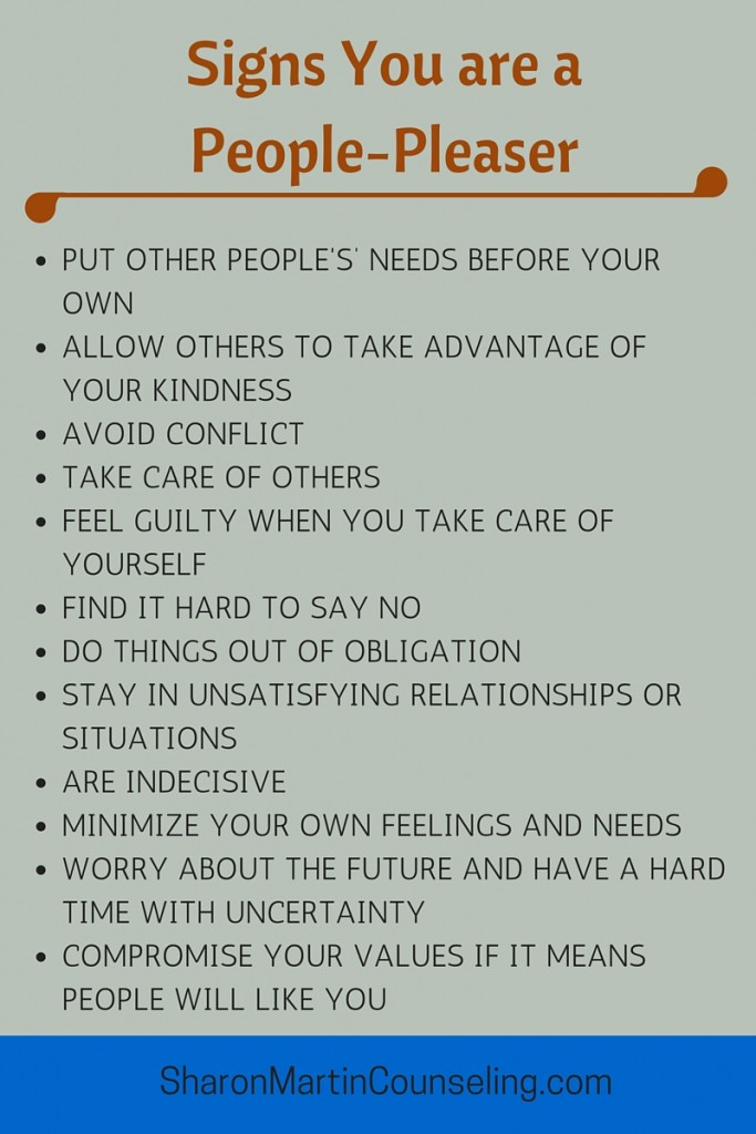 Signs You Are a People Pleaser