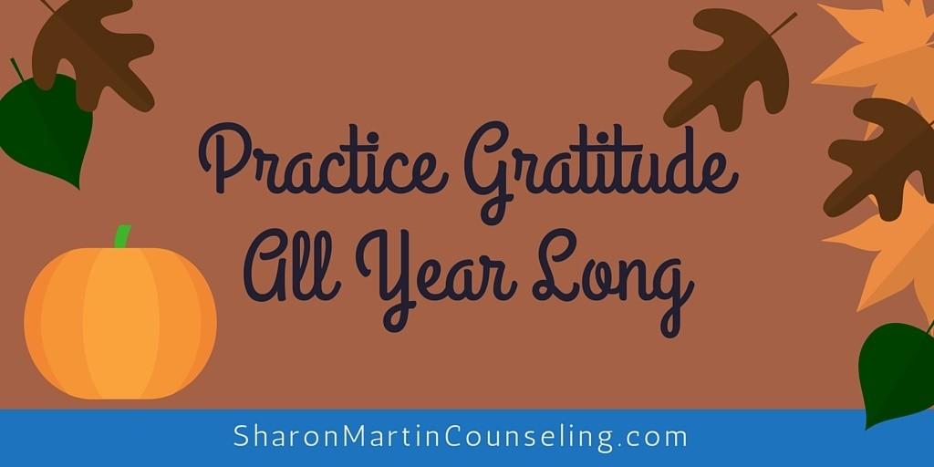 Practice Gratitude All Year Long