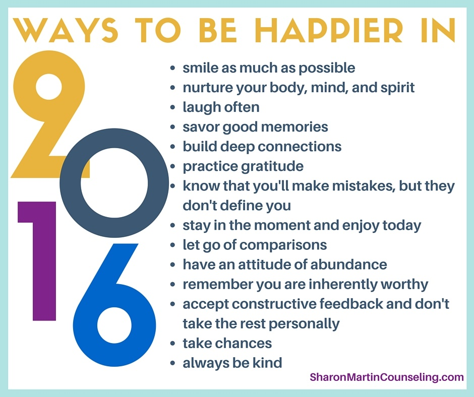 14 Ways to be Happier in 2016