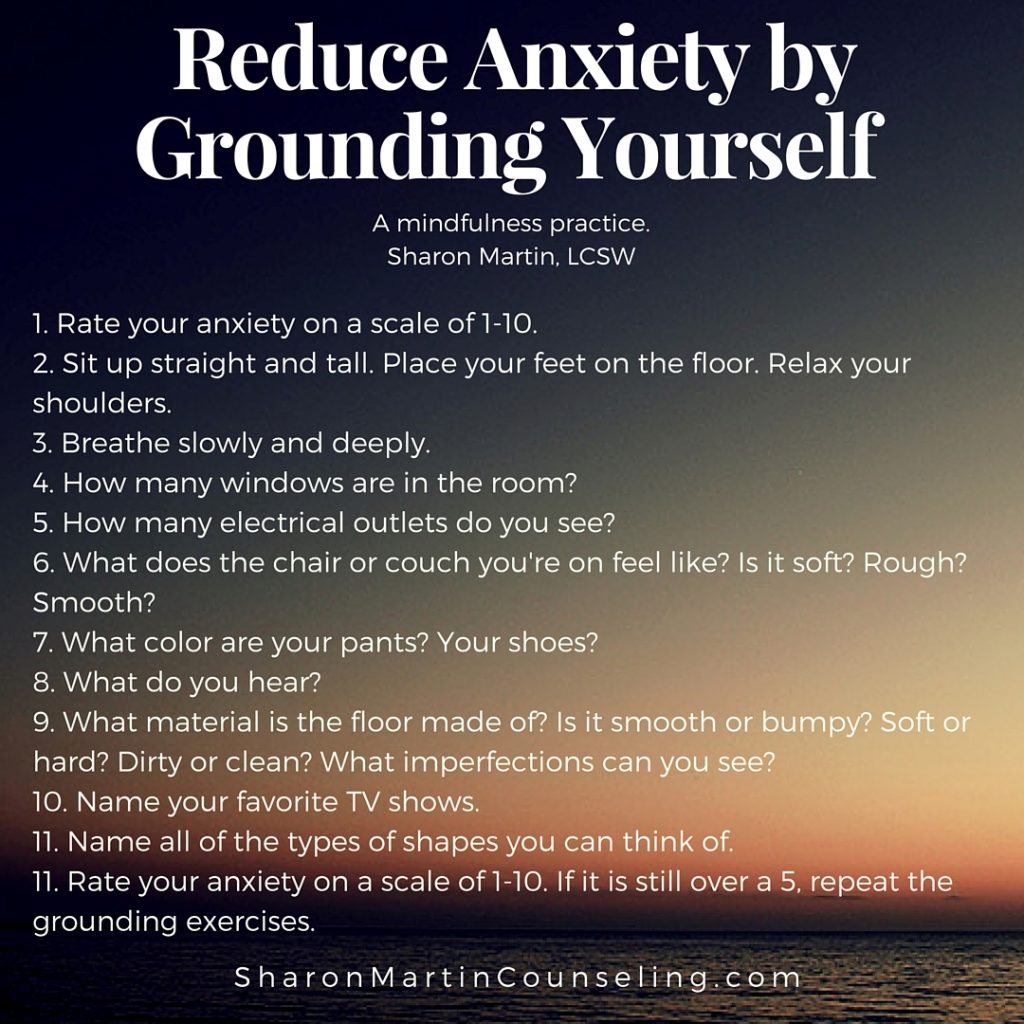 Grounding Exercise to Reduce Anxiety or Negative Feelings