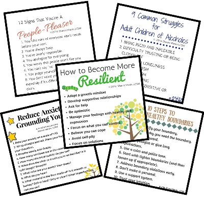 Self Improvement Printables