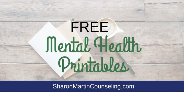 Free Mental Health Printables
