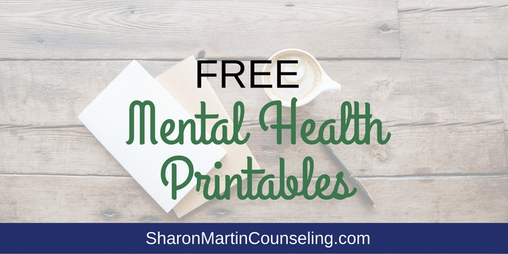 graphic relating to Free Printable Mental Health Worksheets named Totally free Psychological Health and fitness Printables Sharon Martin Counseling