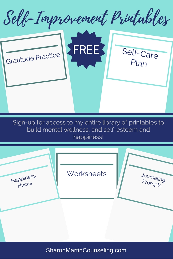 worksheet Self Care Plan Worksheet free mental health printables sharon martin counseling self improvement printables