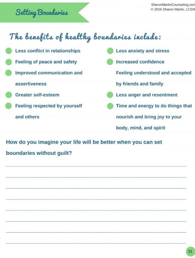 Setting Boundaries Workbook | Learn to set boundaries