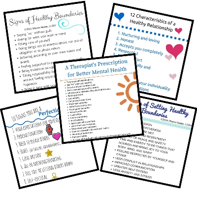 Self improvement mental health printable pdf
