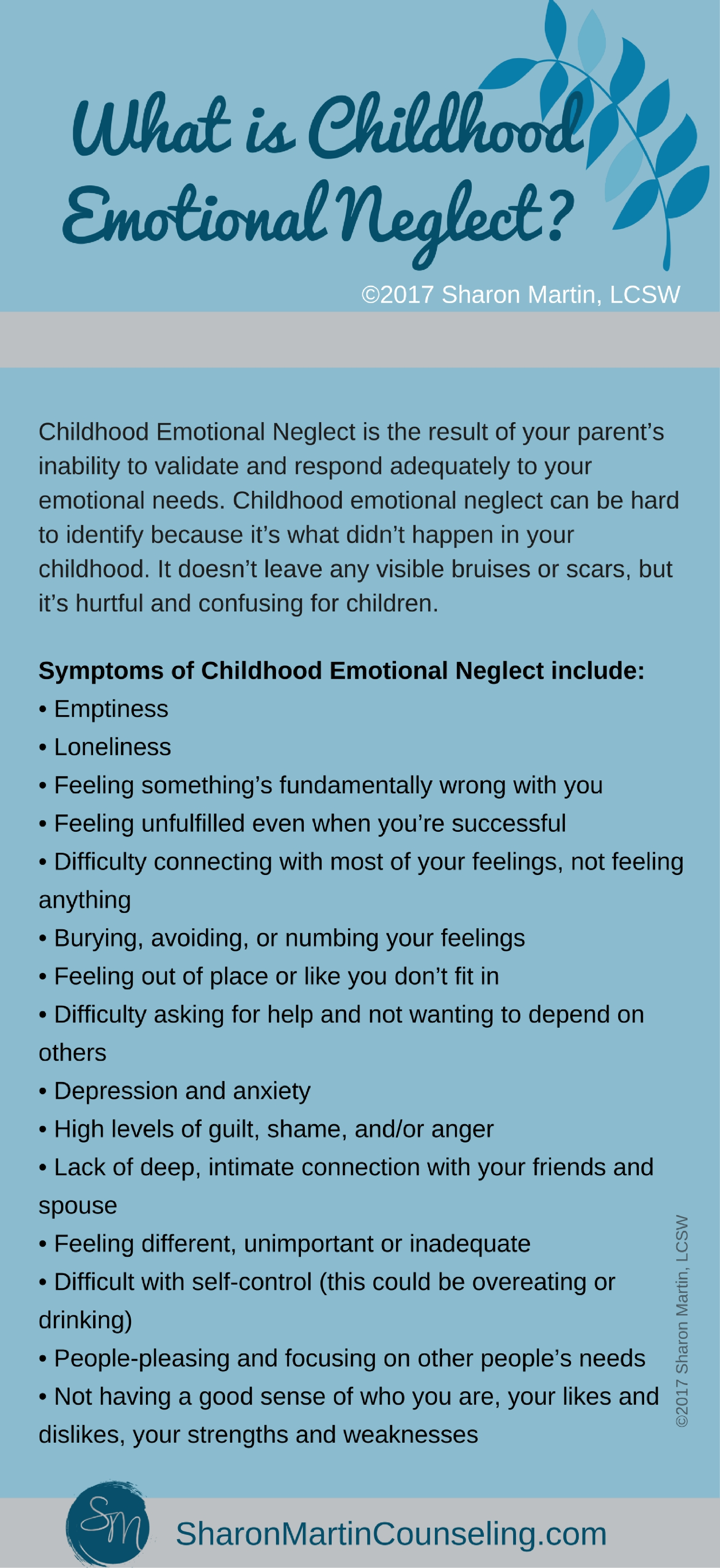 What is Childhood Emotional Neglect? - Sharon Martin, LCSW