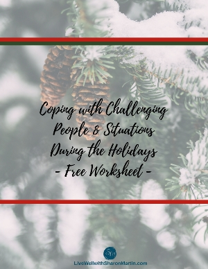 Coping with the Holidays Free Worksheet