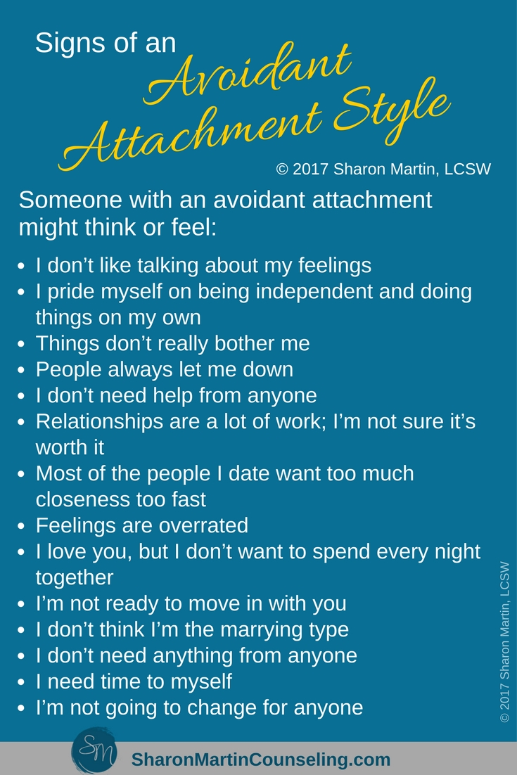 Signs of an Avoidant Attachment Style