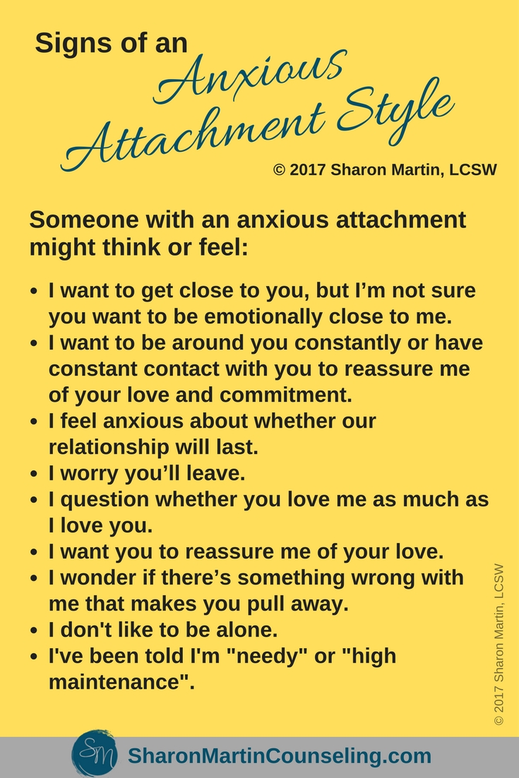 Signs of an Anxious Attachment