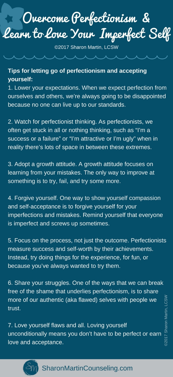 Tips for overcoming perfectionism