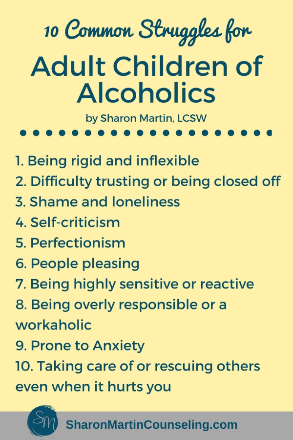 10 Common Struggles for Adult Children of Alcoholics
