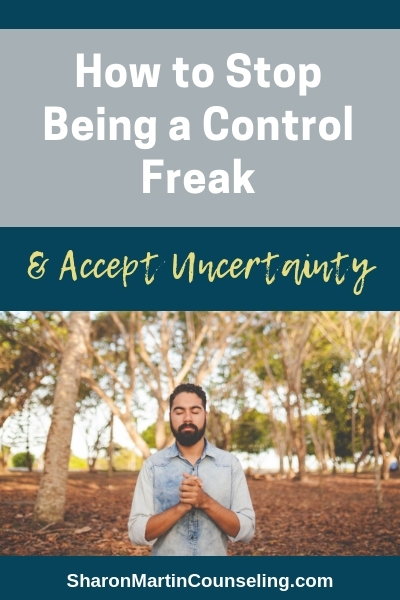 How to stop being a control freak and accept uncertainty. #control #anxiety #perfectionist