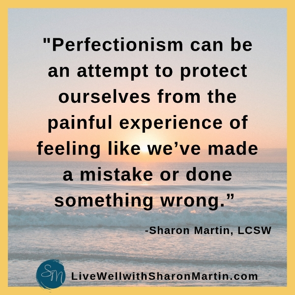 perfectionism is an attempt to avoid the pain of criticism and failure #perfectionist