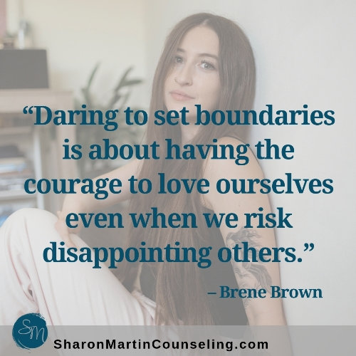 Daring to set boundaries. Boundaries are kind and compassionate. Set boundaries with kindness.