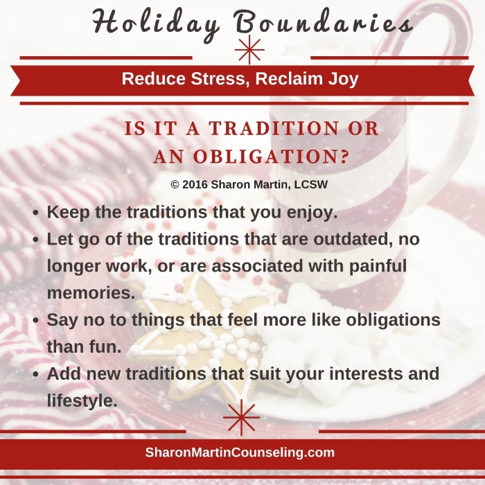 Holiday obligation or tradition